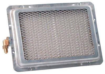 καυστήρας κεραμικός Μ 237mm W 175mm εύρος πυροδότησης 185x125 mm ø σύνδεσης σωλήνα 8mm