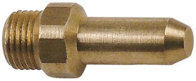 ακροφύσιο αερίου σπείρωμα M10x1  ΜΚ 12 εσωτερική ø 0mm Μ 31mm χωρίς οπή