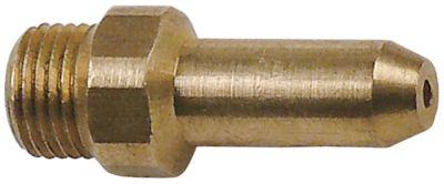 ακροφύσιο αερίου σπείρωμα M10x1  ΜΚ 12 εσωτερική ø 1.1mm Μ 31mm