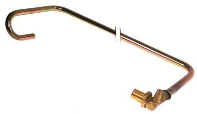 σωλήνας αερίου ø σωλήνα 12mm Ανοξείδωτο ατσάλι με βάση ακροφυσίου