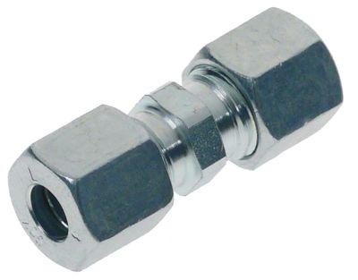 σύνδεσμος σωλήνα βιδωτός ευθύ σπείρωμα για ø σωλήνα 8mm επιχρωμιωμένο