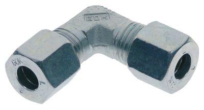 σύνδεσμος σωλήνα βιδωτός με γωνία σπείρωμα για ø σωλήνα 8mm επιχρωμιωμένο