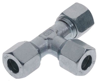 Τ σύνδεσης εξάρτημα T σπείρωμα  - για ø σωλήνα 10mm επιχρωμιωμένο