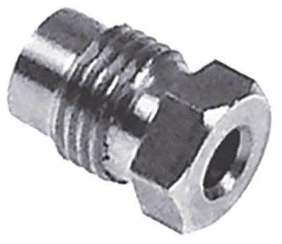 βίδα σύνδεσης σπείρωμα M10x1  μέγ. ø αισθητηρίου 4.5mm
