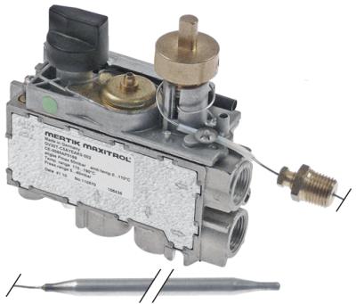 θερμοστατική βαλβίδα αερίου MERTIK  τύπος GV30T-C5AYEAK0-001  Μέγ. Θ 190°C 110-190 °C