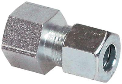 σύνδεσμος σωλήνα βιδωτός ευθύ σπείρωμα 1/2″  για ø σωλήνα 8mm επιχρωμιωμένο