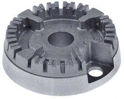 κεφαλή καυστήρα 1kW για ø σπινθηριστή 6mm για ø καπακιού καυστήρα 50mm