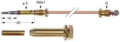 σετ θερμοκόπιες 3 τεμαχίων Μ 330mm σύνδεση βύσματος ø5,0mm M8x1