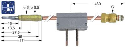 θερμοκόπια M9x1  Μ 850mm σύνδεση βύσματος ø6,0mm με διακόπτη ένωση συγκόλλησης SIT