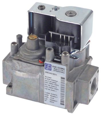 βαλβίδα αερίου τύπος Sigma  230V 50Hz είσοδος αερίου 1/2″  έξοδος αερίου 1/2″