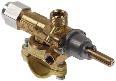 βαλβίδα αερίου AB  τύπος A60U  είσοδος αερίου φλάντζα σωλήνα ø27mm