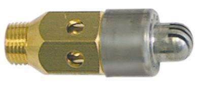 ακροφύσιο καυστήρα LPG H 36mm ø 16mm ø οπής 0,45mm σπείρωμα 1/8″  για διανομέα φλόγας