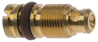 ακροφύσιο bypass τύπος PEL22  εσωτερική ø 1mm σπείρωμα M6x0,5