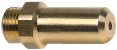 ακροφύσιο αερίου σπείρωμα M10x1  εσωτερική ø 1mm Μ 30mm ΜΚ 12