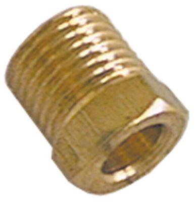 βίδα σύνδεσης σπείρωμα M10x1  για ø σωλήνα 6mm  ø αναγν. 6,2mm Μ 12mm Ποσ. 1 τεμ. ΜΚ 10