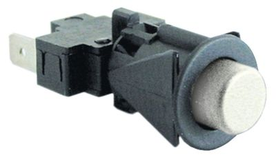 στιγμιαίος διακόπτης start διαστ. τοποθέτ. ø16mm  στρογγυλό λευκό 1NO  250V 16A  -  -  -