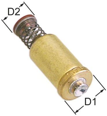 μαγνητική επαφή Μ 43.5mm ø D1 15.3mm ø D2 10.5mm κατάλληλο για SIT M1