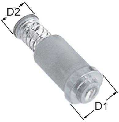μαγνητική επαφή βασικό Μ 39mm ø D1 15.4mm ø D2 11mm κατάλληλο για PEL20-21/JUNKERS/EGA