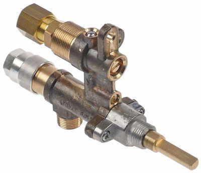 βαλβίδα αερίου MADEC  με έξοδο σωλήνα είσοδος αερίου M12x1 (σωλήνας ø 8mm)