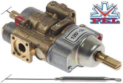 θερμοστατική βαλβίδα αερίου PEL  τύπος 24STS  120-320 °C είσοδος αερίου φλάντζα