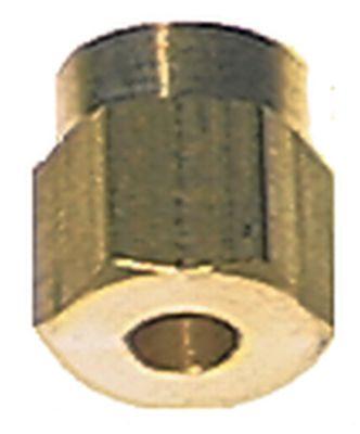 παξιμάδι σπείρωμα M8x1  για ø σωλήνα 4mm
