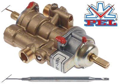 θερμοστατική βαλβίδα αερίου PEL  τύπος 25ST  120-320 °C είσοδος αερίου M16x1.5 (σωλήνας ø 10mm)