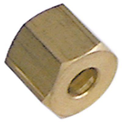 παξιμάδι σπείρωμα 1/4″ CCT  κοντό