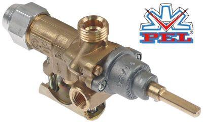 βαλβίδα αερίου PEL  τύπος 21S  είσοδος αερίου φλάντζα σωλήνα ø21mm