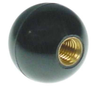 λαβή μπάλα σπείρωμα M8  ø 25mm με μεταλλικό δακτύλιο μαύρο