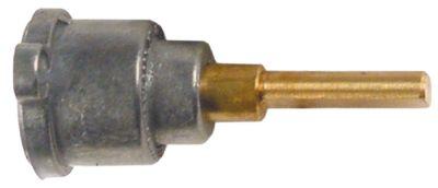 άξονας βαλβίδας αερίου ø άξονα 6x4,6 mm Μ άξονα 31/23 mm επίπεδος άξονας πάνω/κάτω