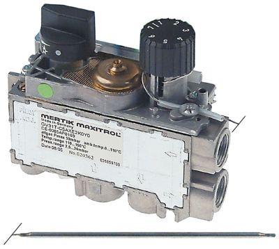 θερμοστατική βαλβίδα αερίου MERTIK  Μέγ. Θ 110°C 30-110 °C είσοδος αερίου πλευρική 3/8″