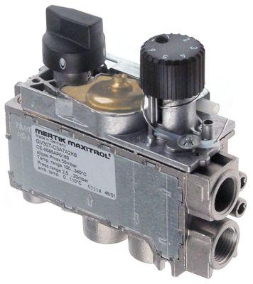 θερμοστατική βαλβίδα αερίου MERTIK  τύπος GV31T  Μέγ. Θ 190°C 110-190 °C είσοδος αερίου κάτω 3/8″