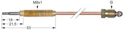 θερμοκόπια M8x1  Μ 1500mm M8x1