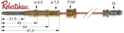θερμοκόπια ROBERTSHAW  ASA 11/32  Μ 18″ - 455 mm 7/16″