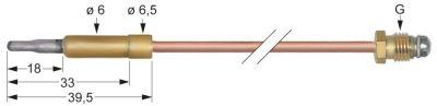 θερμοκόπια M8x1  Μ 450mm σύνδεση βύσματος ø6,0mm