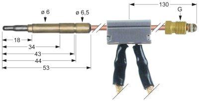 θερμοκόπια με διακόπτη M9x1  Μ 1000mm σύνδεση βύσματος ø6,0mm καλώδιο 1000mm