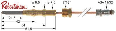 θερμοκόπια ASA 11/32  Μ 72″ - 1825 mm 7/16″