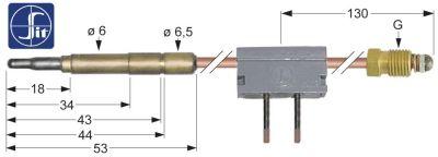 θερμοκόπια M9x1  Μ 600mm σύνδεση βύσματος ø6,0mm με διακόπτη ένωση συγκόλλησης SIT