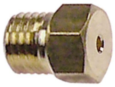 ακροφύσιο αερίου σπείρωμα M6x0,75  ΜΚ 7 εσωτερική ø 2.4mm
