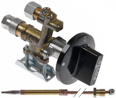 βαλβίδα αερίου MADEC  τύπος φυσικό αέριο με θερμοστοιχείο και κομβίο