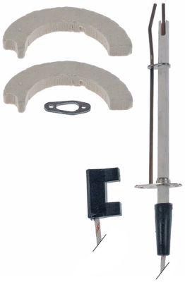 ηλεκτρόδιο ανάφλεξης με παρελκόμενα μήκος φλάντζας 38mm πλάτος φλάντζας 16mm ø D1 9mm
