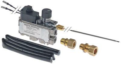 θερμοστατική βαλβίδα αερίου MERTIK  τύπος Μέγ. Θ 190°C 110-190 °C είσοδος αερίου κάτω 3/8