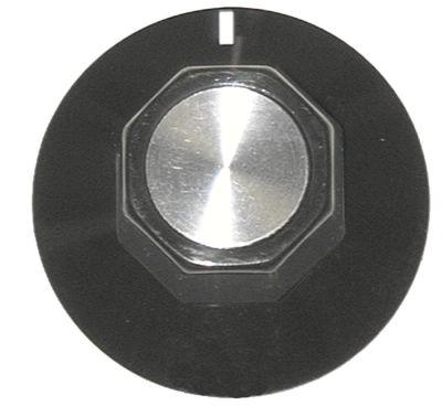 κομβίο ένδειξη μηδέν Μέγ. Θ  -°C  -°C ø 50mm ø άξονα 6x4,6 mm επίπεδος άξονας πάνω μαύρο