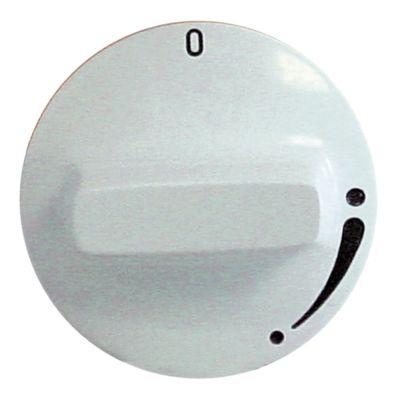 κομβίο βάνα αερίου χωρίς φλόγα ανάφλεξης Μέγ. Θ°C ø 50mm ø άξονα 8x5,5 mm επίπεδος άξονας δεξιά