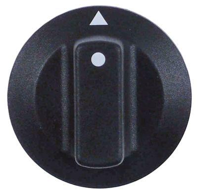 κομβίο ένδειξη μηδέν διακόπτη ø 42mm ø άξονα 6x4,6 mm επίπεδος άξονας πάνω μαύρο
