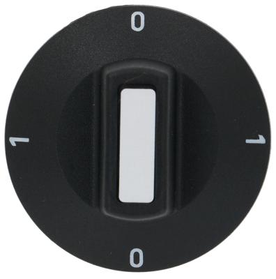 κομβίο διακόπτης 0-1-0-1 Μέγ. Θ  -°C  -°C ø 50mm ø άξονα 6x4,6 mm επίπεδος άξονας πάνω μαύρο