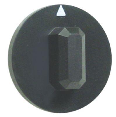κομβίο ένδειξη μηδέν διακόπτη Μέγ. Θ°C ø 44mm ø άξονα 6x4,6 mm επίπεδος άξονας πάνω μαύρο