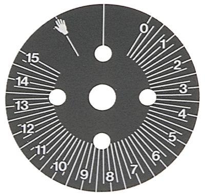 δίσκος ενδείξεων ø 60mm περιστροφή 0-300 ° με μόνιμη θέση χρονοδιακόπτες μόνιμη θέση ναι