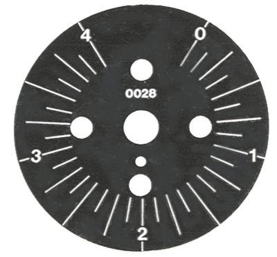 δίσκος ενδείξεων ø 60mm περιστροφή 30-330 ° χρονοδιακόπτες μόνιμη θέση αρ. διαβάθμιση 4min