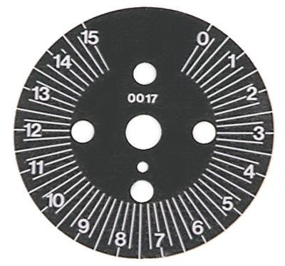δίσκος ενδείξεων διαβάθμιση 15min  μόνιμη θέση αρ. περιστροφή 30-330 ° ø 60mm χρονοδιακόπτες